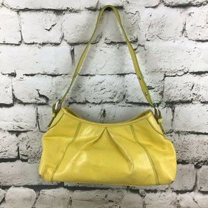 Kenneth Cole Reaction Yellow Leather Bag Purse